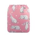Alva Baby Onesize Nappy: Bunnies on Pink