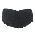 Muslinz Bamboo Cotton Terry Wipes: Black