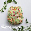 Buttons Newborn Wrap: Homegrown