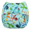 NEW! Blueberry Capri Nappy Wrap: Size 1: Dragons