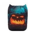 NEW! Alva Baby Onesize Nappy: Halloween Scary Pumpkin