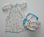 60% OFF! Dunk n Fluff Peasant Top & Nappy Wrap Set - L - Hello Kitty