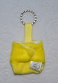 Cloth Nappy Keyring: Yellow Minkee