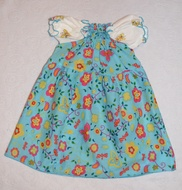 50% OFF! Dunk n Fluff Peasant Dress - Turquoise Floral - 12M