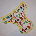 Dunk n Fluff Nappy Wrap - S - Very Hungry Caterpillar