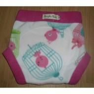 Pumpkin Pants Fleece Soaker - Bird Cage