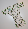 25% OFF! Dunk n Fluff Fitted Nappy - XS - Raccoons