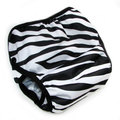 Peachy Green Switcheroo Nappy Wrap - Zebra