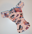 30% OFF! Dunk n Fluff Fitted Nappy - M - Union Jack Julius
