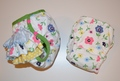 25% OFF! Dunk n Fluff Fitted Nappy & Wrap Set - M - Tossed Floral