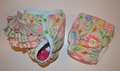 25% OFF! Dunk n Fluff Fitted Nappy & Wrap Set - L - Bird Song