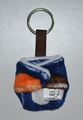 Cloth Nappy Keyring: Navy Spots