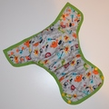 Dunk n Fluff Nappy Wrap - M - Monsters Rock