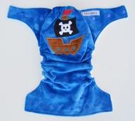 30% OFF! Hooligans Onesize Pocket Nappy: Pirate Ship