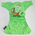 Weenotions Onesize Front Snap Pocket Nappy - Santa