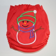 Weenotions Onesize Front Snap Pocket Nappy - Snowman