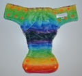 30% OFF! Fluff and Stuff Fitted - Small - Rainbow Stripe