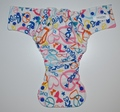 30% OFF! Fluff and Stuff Hybrid Fitted Nappy - Small - Peace