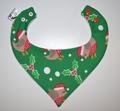 Christmas Bandana Bib - Robin