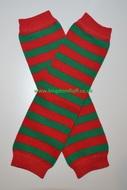 Baby Leg Warmers: Elf Stripe