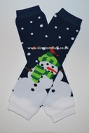 Baby Leg Warmers: Snowman Night Sky
