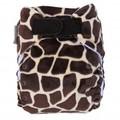 Ecopipo Onesize Pocket Nappy: Giraffe Minky