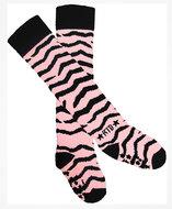 Rock-a-Thigh Baby Socks: Pink Zebra