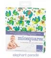 NEW! Bambino Mio Miosquares 4-pk Muslins: Elephant Parade
