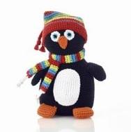NEW! Pebble Crochet Penguin Rattle