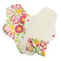 Pink Daisy Feminine Pads: Organic Cotton: Butterflies