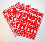 5-Pack Medium Washable Wipes: Nordic Christmas