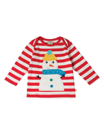55% OFF! Frugi Bobby Applique Top:  snowman 3-6m