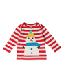 55% OFF! Frugi Bobby Applique Top: Snowman  3-6m 6-12m