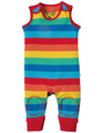 30% OFF Frugi Kneepatch Dungarees: Rainbow Stripe