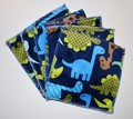 5-Pack Large Washable Wipes: Dino Plush