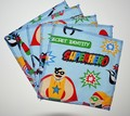 5-Pack Large Washable Wipes: Superheroes