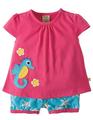 55% OFF! Frugi Smock Outfit: Raspberry Sky Starfish 0-3m