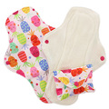 NEW! Pink Daisy Feminine Pads: Organic Cotton: Pink Pineapples