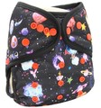 Onesize Nappy Wrap: Planets and Flowers
