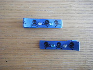 Hair clips - Blue Sparkly Skulls - Medium