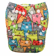 Alva Baby Onesize Nappy: Cool Cats