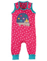 30% OFF! Frugi Kneepatch Dungaree: Hedgehog