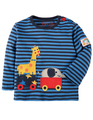 40% OFF! Frugi Button Applique Top: Giraffe