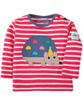 40% OFF! Frugi Button Applique Top: Hedgehog