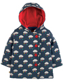 40% OFF! Frugi Cosy Button Up Jacket: Rainclouds
