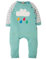 30% OFF! Frugi Cosy Knitted Romper: Aqua Cloud