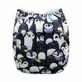 Alva Baby Onesize Nappy: Penguin Parade