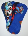 Pack of 5 Fleece Nappy Liners - Blue Mix