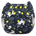 NEW! Blueberry Onesize Simplex Cotton Birdseye: Unicorns