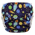Blueberry Side Snap Simplex Cotton Birdseye: Space